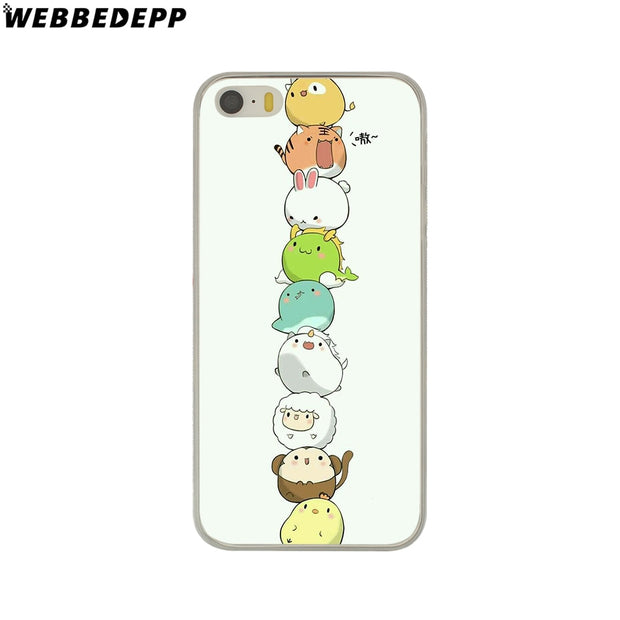 WEBBEDEPP Cute Lucky Cat Kitty Hard Phone Case For IPhone X XS Max XR 7 8 6S Plus 5 5S SE 5C 4 4S Cover