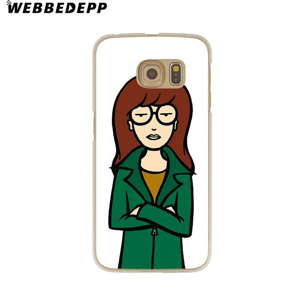 WEBBEDEPP DARIA MORGENDORFFER Hard Transparent Phone Case For Galaxy S6 S7 Edge S9 S8 Plus S5 S4 S3 Cover