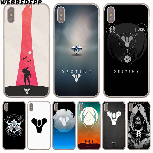 WEBBEDEPP DESTINY GHOST Hard Phone Case For IPhone X XS Max XR 7 8 6S Plus 5 5S SE 5C 4 4S Cover