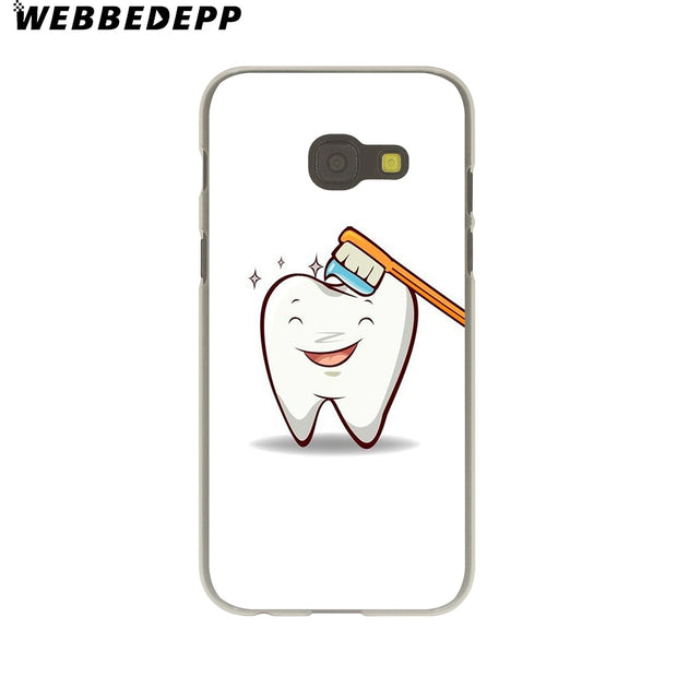WEBBEDEPP Dentist Dental Crowned Tooth Hard Case For Galaxy A3 A5 2015 2016 2017 A6 A8 Plus 2018 Note 8 9 Grand Cover