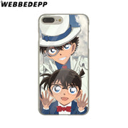 WEBBEDEPP Detective Conan Hard Phone Case For IPhone X XS Max XR 7 8 6S Plus 5 5S SE 5C 4 4S Cover