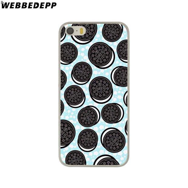 WEBBEDEPP Donuts Cookie Biscuit Hard Phone Case For IPhone X XS Max XR 7 8 6S Plus 5 5S SE 5C 4 4S Cover