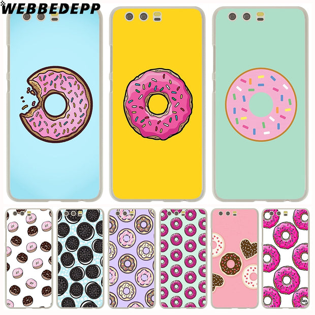 WEBBEDEPP Donuts Cookie Biscuit Phone Case For Huawei P20 Pro Smart P10 P9 Lite 2016/2017 P8 Lite 2015/2017 Cover