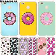 WEBBEDEPP Donuts Cookie Biscuit Phone Case For Xiaomi Redmi 4X 4A 5A 5 Plus 6 Pro 6A S2 Note 5 6 Pro 4X Cover