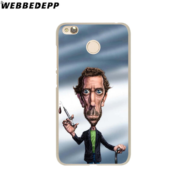 WEBBEDEPP Dr House Hugh Laurie Pills Phone Case For Xiaomi Redmi 4X 4A 5A 5 Plus 6 Pro 6A S2 Note 5 6 Pro 4X Cover