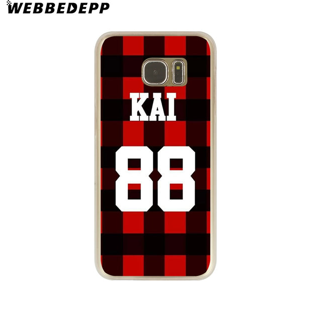 WEBBEDEPP EXO Hard Transparent Phone Case For Galaxy S6 S7 Edge S9 S8 Plus S5 S4 S3 Cover