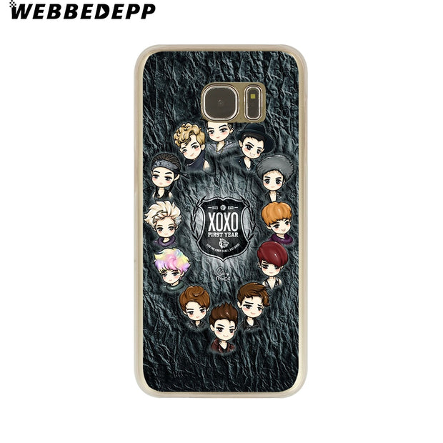 WEBBEDEPP EXO Baekhyun Hard Transparent Phone Case For Galaxy S6 S7 Edge S9 S8 Plus S5 S4 S3 Cover