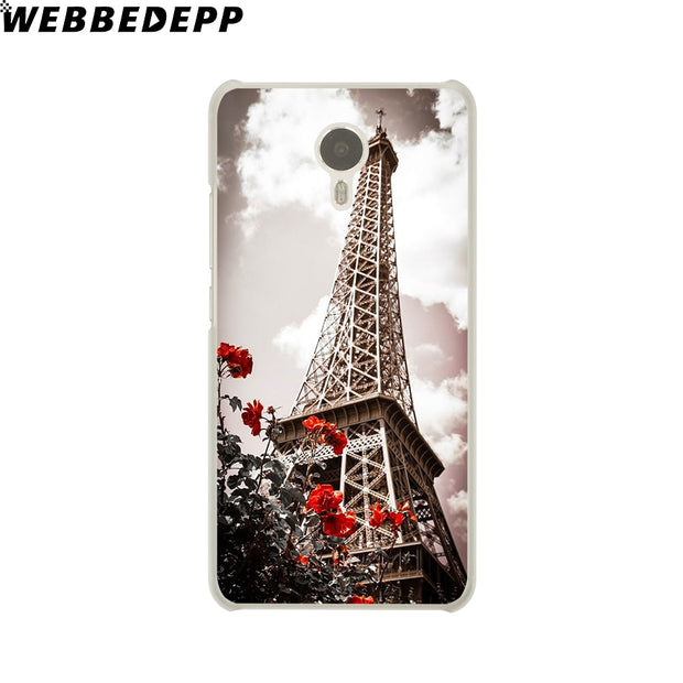 WEBBEDEPP Eiffel Tower Night France Paris Phone Case For Meizu M6 M5 M3 Note M6S M5S M5C M3S Mini Cover