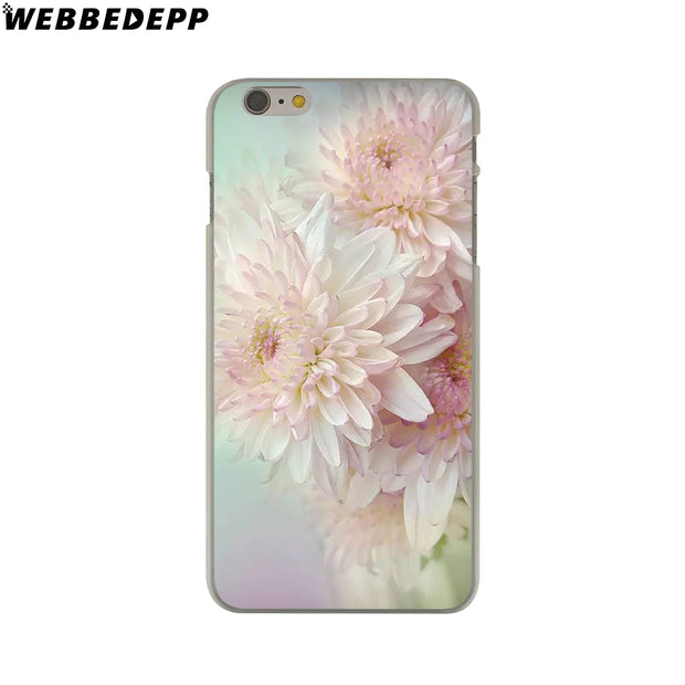 WEBBEDEPP Elegant Beautiful Flowers Hard Phone Case For IPhone X XS Max XR 7 8 6S Plus 5 5S SE 5C 4 4S Cover