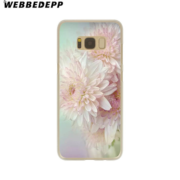 WEBBEDEPP Elegant Beautiful Flowers Hard Transparent Phone Case For Galaxy S6 S7 Edge S9 S8 Plus S5 S4 S3 Cover