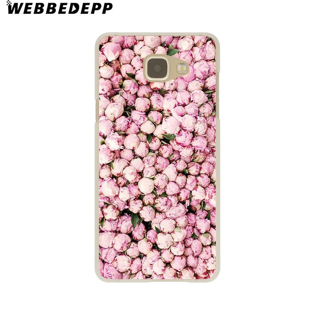 WEBBEDEPP Fashion Magnolia Flower Leaves Hard Case For Galaxy A3 A5 2015 2016 2017 A6 A8 Plus 2018 Note 8 9 Grand Cover