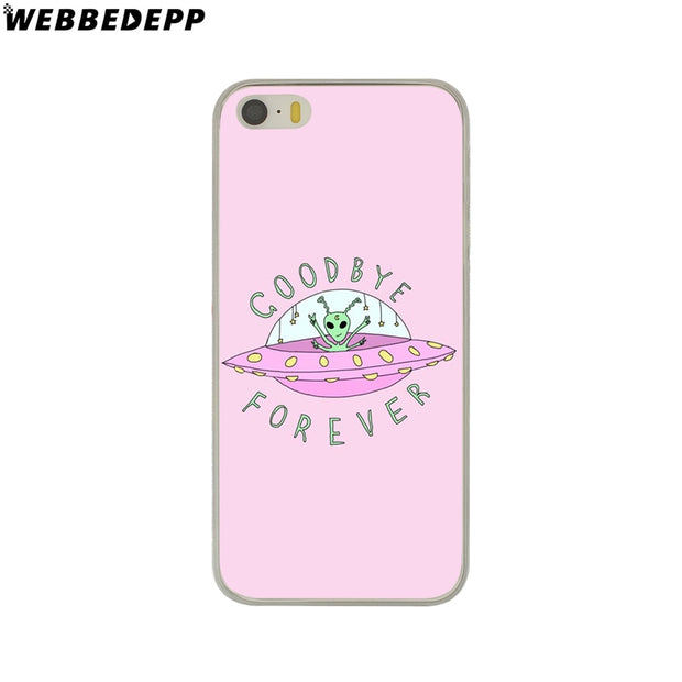 WEBBEDEPP Funny Alien Drawings Of Aliens Hard Phone Case For IPhone X XS Max XR 7 8 6S Plus 5 5S SE 5C 4 4S Cover