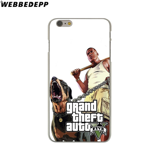WEBBEDEPP Grand Theft Auto GTA V Hard Phone Case For IPhone X XS Max XR 7 8 6S Plus 5 5S SE 5C 4 4S Cover