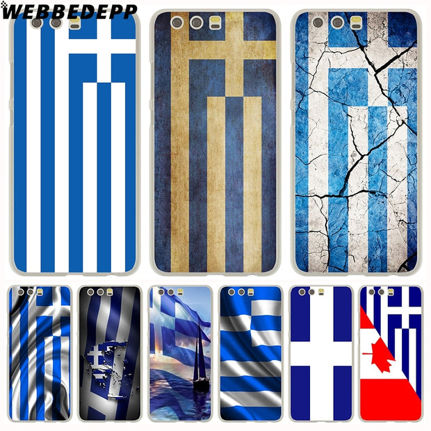 WEBBEDEPP Greek Greece Flag Phone Case For Huawei P20 Pro Smart P10 P9 Lite 2016/2017 P8 Lite 2015/2017 Cover