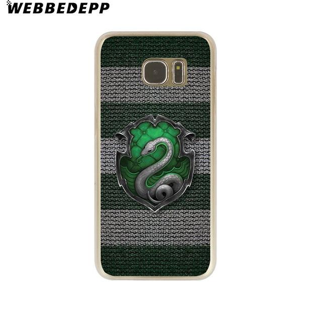 WEBBEDEPP Harry Potter Deathly Hallows Always Hard Transparent Phone Case For Galaxy S6 S7 Edge S9 S8 Plus S5 S4 S3 Cover