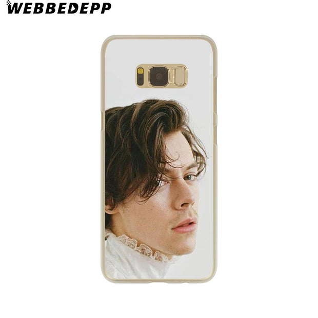 WEBBEDEPP Harry Styles Hard Transparent Phone Case For Galaxy S6 S7 Edge S9 S8 Plus S5 S4 S3 Cover