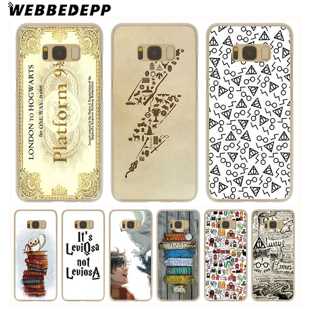 WEBBEDEPP Harry Potter Dream Magic Hard Transparent Phone Case For Galaxy S6 S7 Edge S9 S8 Plus S5 S4 S3 Cover