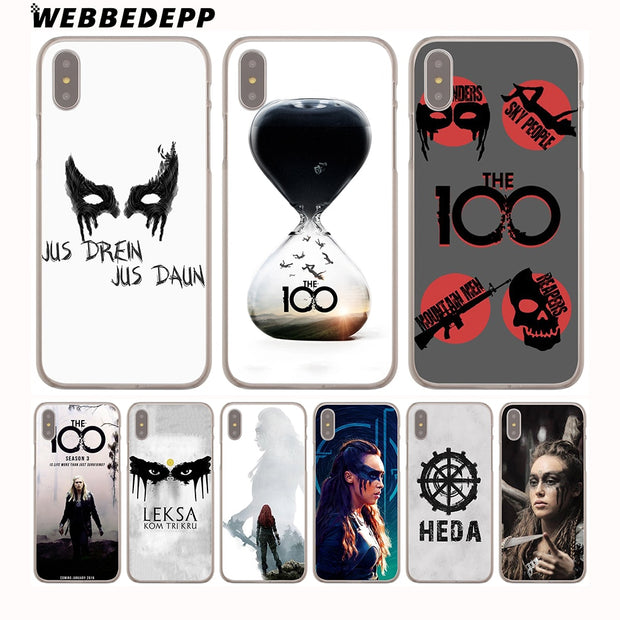 WEBBEDEPP Heda Lexa The 100 Hard Phone Case For IPhone X XS Max XR 7 8 6S Plus 5 5S SE 5C 4 4S Cover