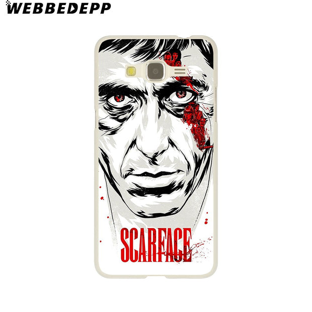 WEBBEDEPP Hot Sale Scarface Tony Montana Hard Case For Galaxy A3 A5 2015 2016 2017 A6 A8 Plus 2018 Note 8 9 Grand Cover