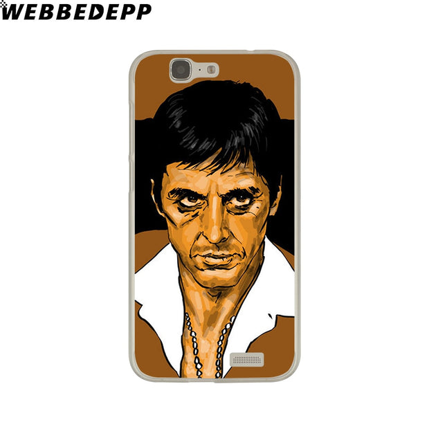 WEBBEDEPP Hot Sale Scarface Tony Montana Phone Case For Huawei P20 Pro Smart P10 P9 Lite 2016/2017 P8 Lite 2015/2017 Cover