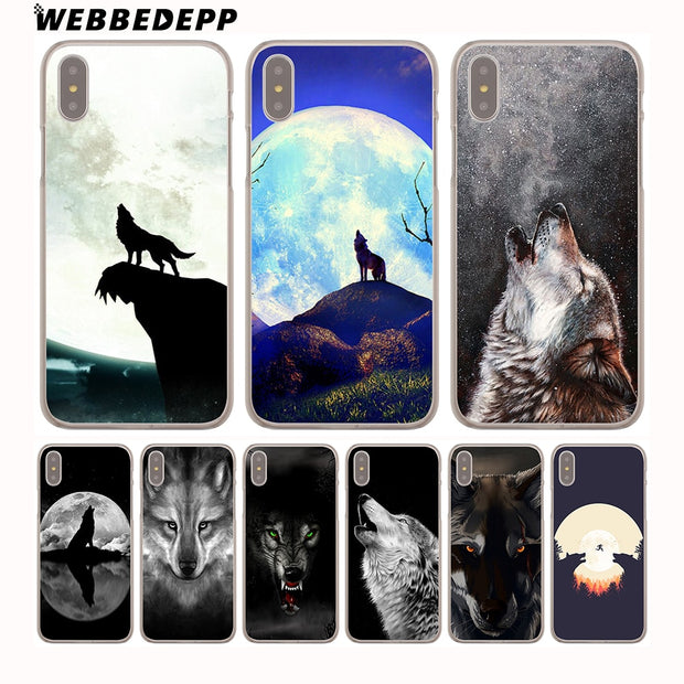 WEBBEDEPP Hot Sale The Wolf Hard Phone Case For IPhone X XS Max XR 7 8 6S Plus 5 5S SE 5C 4 4S Cover