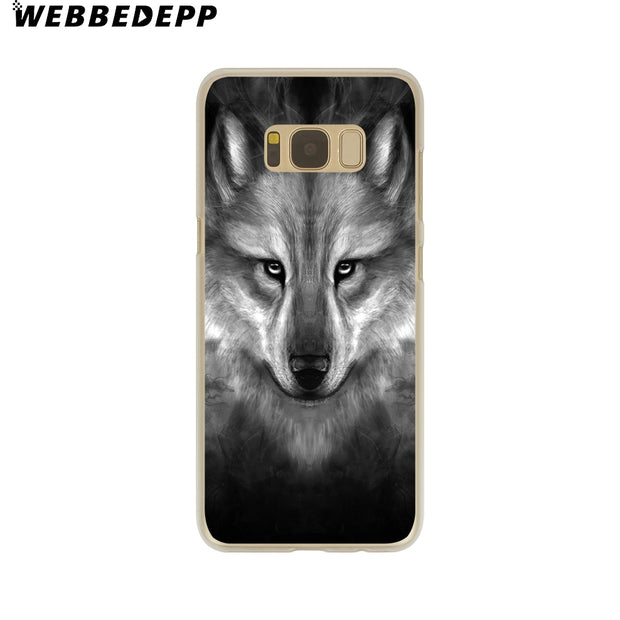 WEBBEDEPP Hot Sale The Wolf Hard Transparent Phone Case For Galaxy S6 S7 Edge S9 S8 Plus S5 S4 S3 Cover
