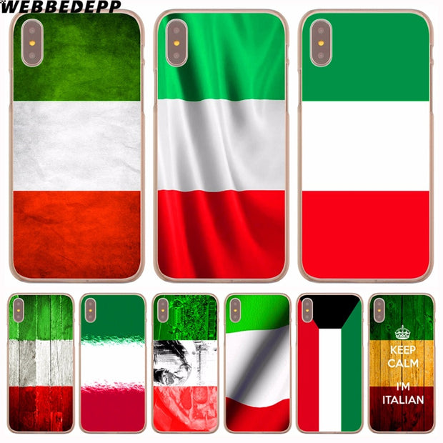WEBBEDEPP Italy National Flag Hard Phone Case For IPhone X XS Max XR 7 8 6S Plus 5 5S SE 5C 4 4S Cover