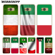 WEBBEDEPP Italy National Flag Hard Transparent Phone Case For Galaxy S6 S7 Edge S9 S8 Plus S5 S4 S3 Cover