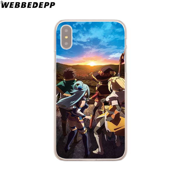 WEBBEDEPP KonoSuba Megumin Kono Hard Phone Case For IPhone X XS Max XR 7 8 6S Plus 5 5S SE 5C 4 4S Cover