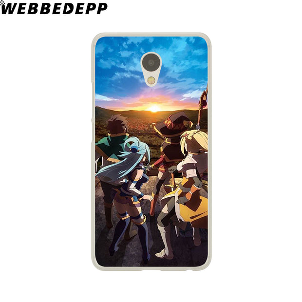 WEBBEDEPP KonoSuba Megumin Kono Phone Case For Meizu M6 M5 M3 Note M6S M5S M5C M3S Mini Cover