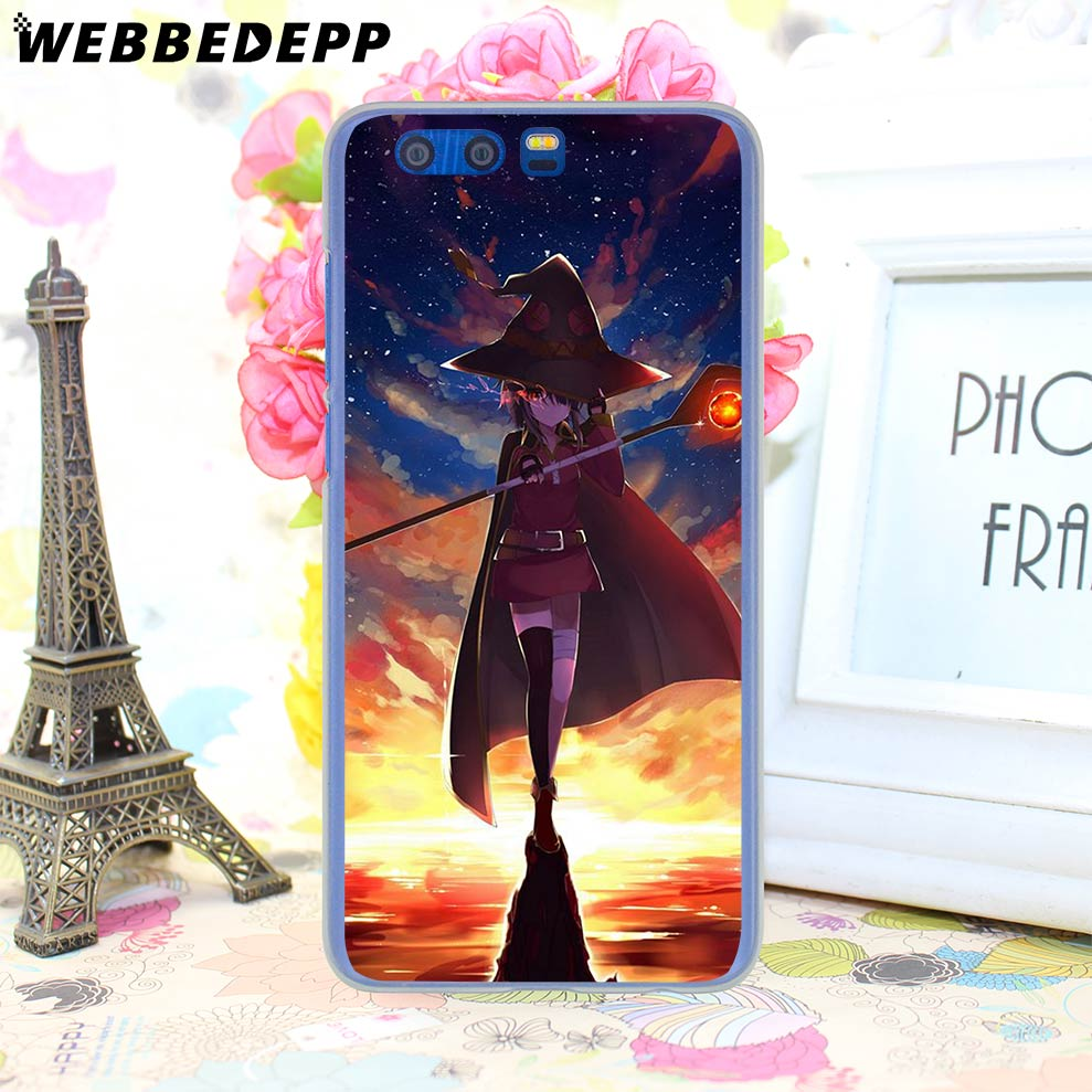 WEBBEDEPP KonoSuba Megumin Kono Phone Hard Case For Huawei Honor Play 9 8  10 Lite 8X 7X 6A 7A Pro 2GB 3GB Cover