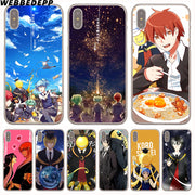 WEBBEDEPP Koro Sensei Ansatsu Kyoshitsu Hard Phone Case For IPhone X XS Max XR 7 8 6S Plus 5 5S SE 5C 4 4S Cover