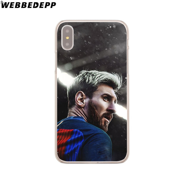 WEBBEDEPP Lionel Messi Hard Phone Case For IPhone X XS Max XR 7 8 6S Plus 5 5S SE 5C 4 4S Cover