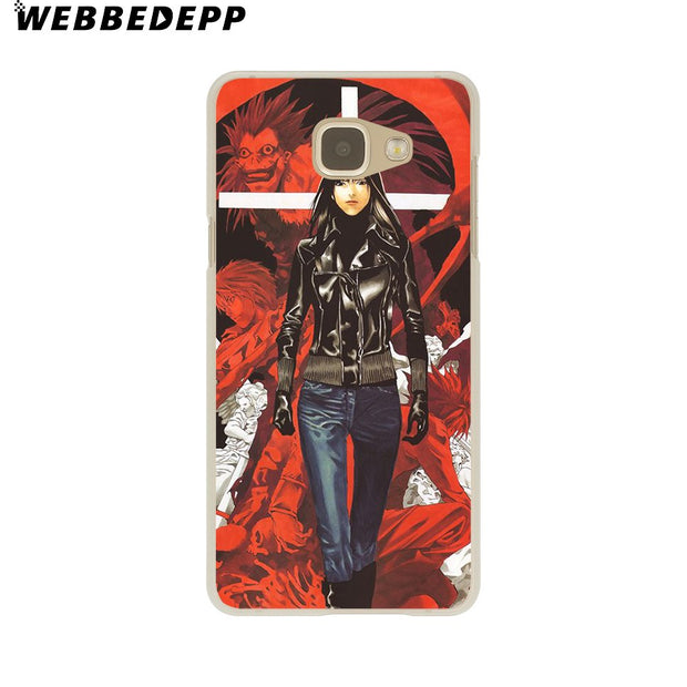 WEBBEDEPP Manga Death Note Hard Case For Galaxy A3 A5 2015 2016 2017 A6 A8 Plus 2018 Note 8 9 Grand Cover