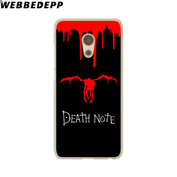 WEBBEDEPP Manga Death Note Phone Case For Meizu M6 M5 M3 Note M6S M5S M5C M3S Mini Cover