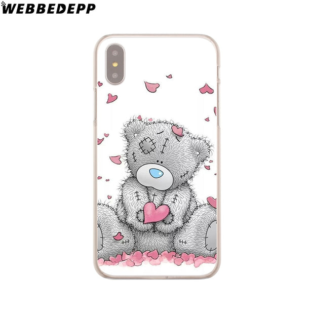 WEBBEDEPP Me To You Bear Style Thin Hard Phone Case For IPhone X XS Max XR 7 8 6S Plus 5 5S SE 5C 4 4S Cover