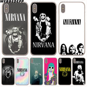 WEBBEDEPP Nirvana LOGO Hard Phone Case For IPhone X XS Max XR 7 8 6S Plus 5 5S SE 5C 4 4S Cover