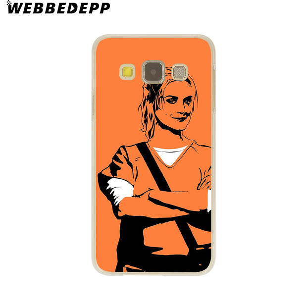 WEBBEDEPP ORANGE IS THE NEW BLACK Hard Case For Galaxy A3 A5 2015 2016 2017 A6 A8 Plus 2018 Note 8 9 Grand Cover