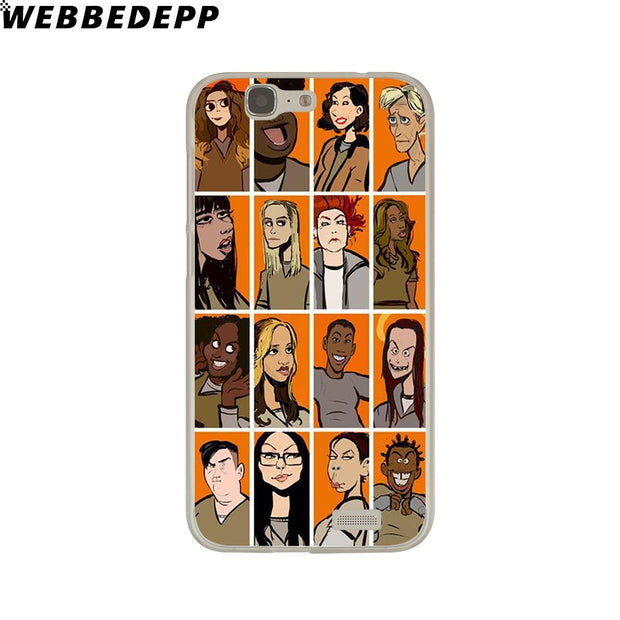 WEBBEDEPP ORANGE IS THE NEW BLACK Phone Case For Huawei P20 Pro Smart P10 P9 Lite 2016/2017 P8 Lite 2015/2017 Cover