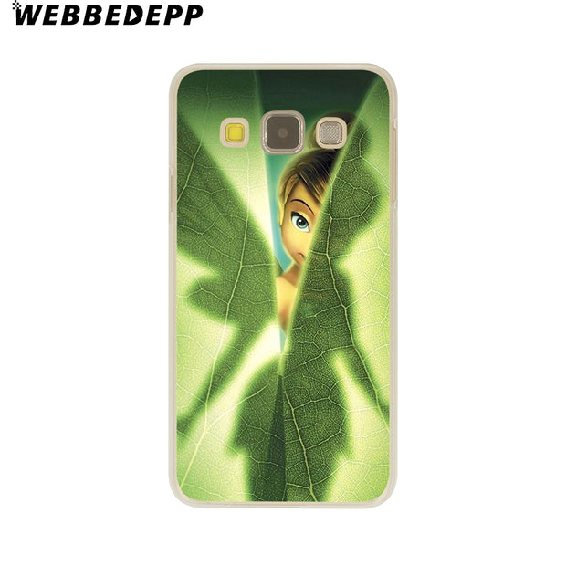 WEBBEDEPP Peter Pan Wendy Tinkerbell Hard Case For Galaxy A3 A5 2015 2016 2017 A6 A8 Plus 2018 Note 8 9 Grand Cover