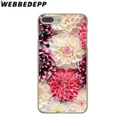 WEBBEDEPP Pink Peonies Hard Phone Case For IPhone X XS Max XR 7 8 6S Plus 5 5S SE 5C 4 4S Cover