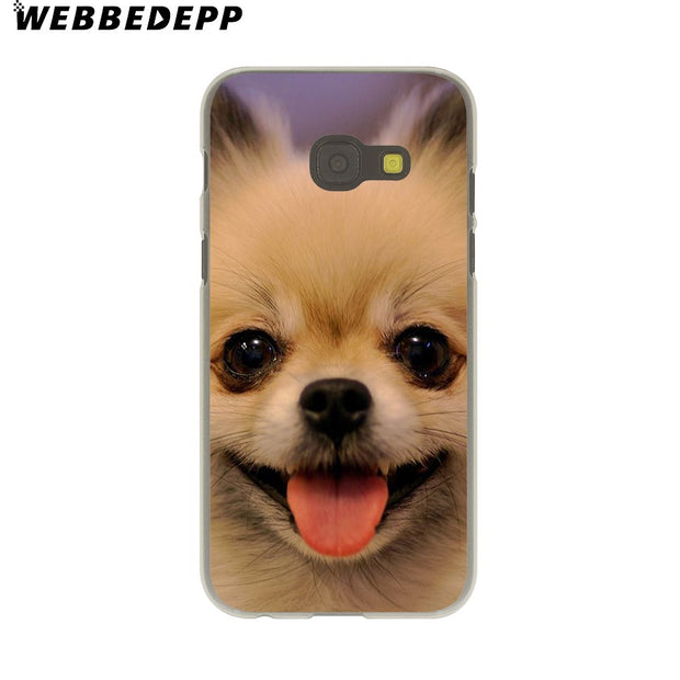 WEBBEDEPP Pomeranian Dog Dogs Hard Case For Galaxy A3 A5 2015 2016 2017 A6 A8 Plus 2018 Note 8 9 Grand Cover