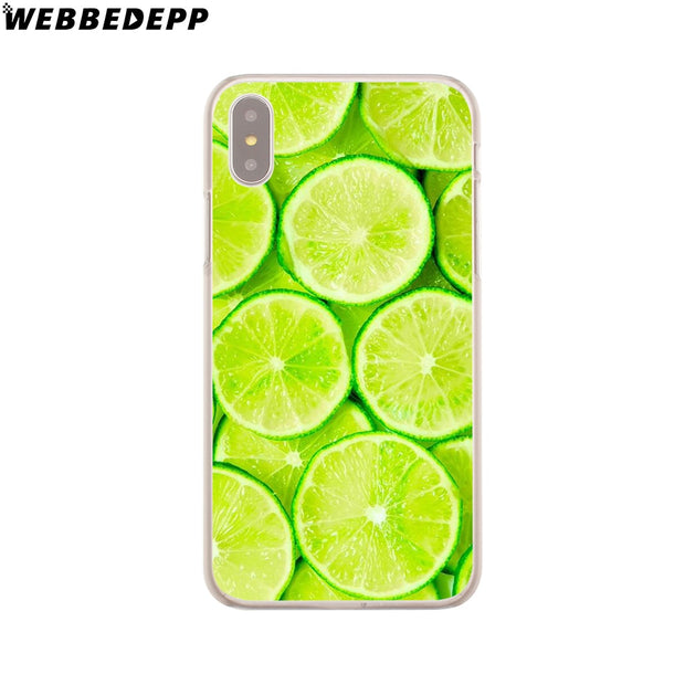 WEBBEDEPP Pretty Fruit Lemon Hard Phone Case For IPhone X XS Max XR 7 8 6S Plus 5 5S SE 5C 4 4S Cover