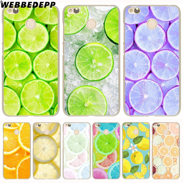 WEBBEDEPP Pretty Fruit Lemon Phone Case For Xiaomi Redmi 4X 4A 5A 5 Plus 6 Pro 6A S2 Note 5 6 Pro 4X Cover