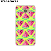 WEBBEDEPP Pretty Fruit Watermelon Hard Case For Galaxy A3 A5 2015 2016 2017 A6 A8 Plus 2018 Note 8 9 Grand Cover