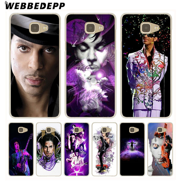 WEBBEDEPP Prince Rogers Nelson Hard Case For Galaxy A3 A5 2015 2016 2017 A6 A8 Plus 2018 Note 8 9 Grand Cover