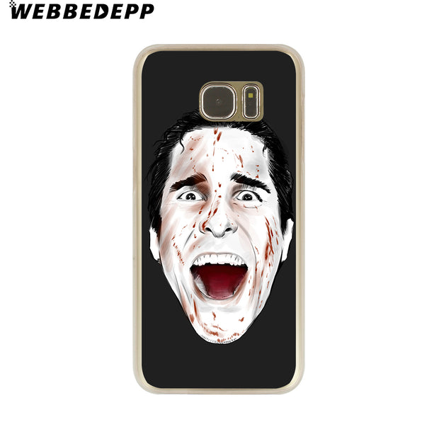 WEBBEDEPP Psycho Hard Transparent Phone Case For Galaxy S6 S7 Edge S9 S8 Plus S5 S4 S3 Cover