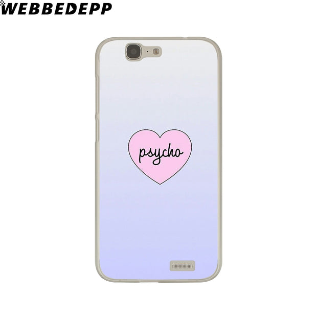 WEBBEDEPP Psycho Phone Case For Huawei P20 Pro Smart P10 P9 Lite 2016/2017 P8 Lite 2015/2017 Cover