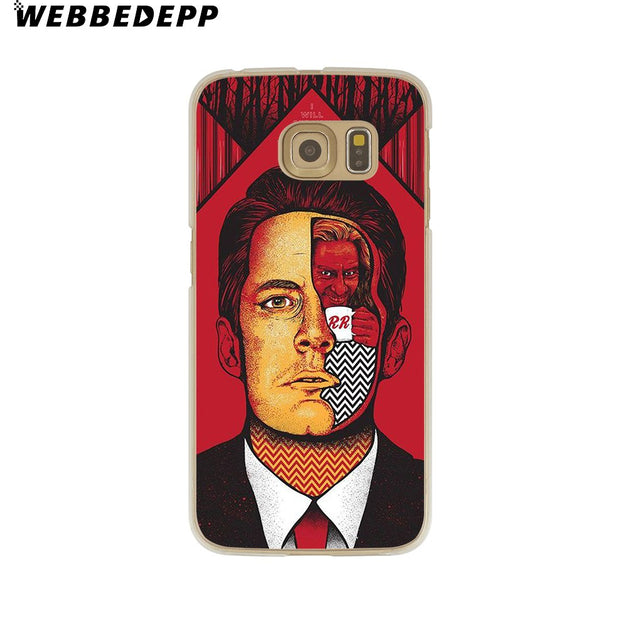 WEBBEDEPP Red WELCOME TO TWIN PEAKS Hard Transparent Phone Case For Galaxy S6 S7 Edge S9 S8 Plus S5 S4 S3 Cover