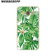 WEBBEDEPP Retro Plants Leaf Hard Case For Galaxy A3 A5 2015 2016 2017 A6 A8 Plus 2018 Note 8 9 Grand Cover